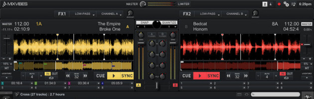 Mixvibes released Update auf CROSS DJ 2.5