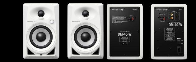 Die Pioneer Lautsprecher DM-40-W sind als weiße Version erhältlich